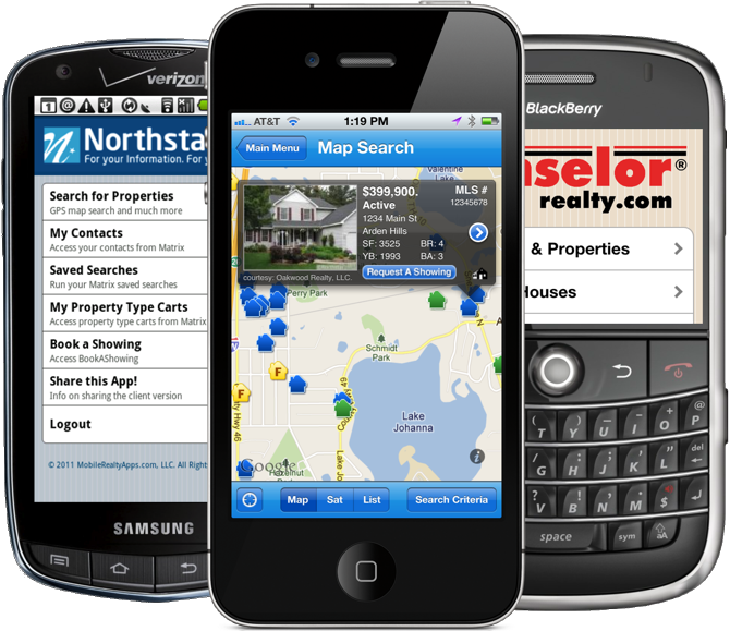 iPhone, Android, and BlackBerry Real Estate Apps